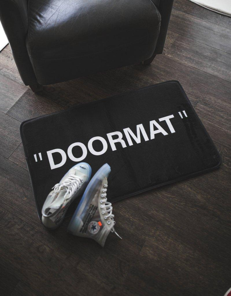 Black Sneaker Door Mat