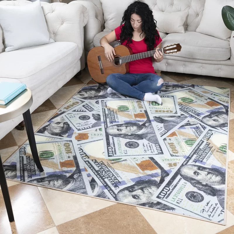 Dollar floor mat