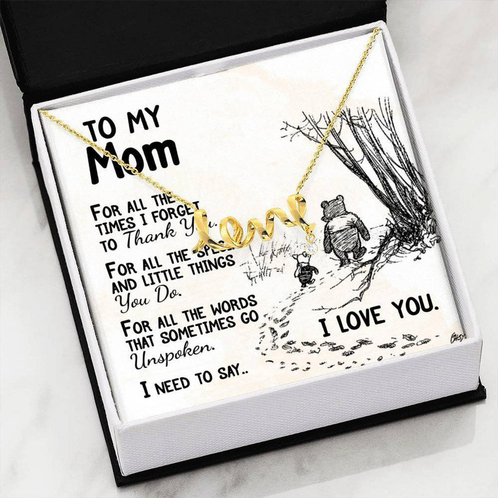 To My Mom - Love Necklace