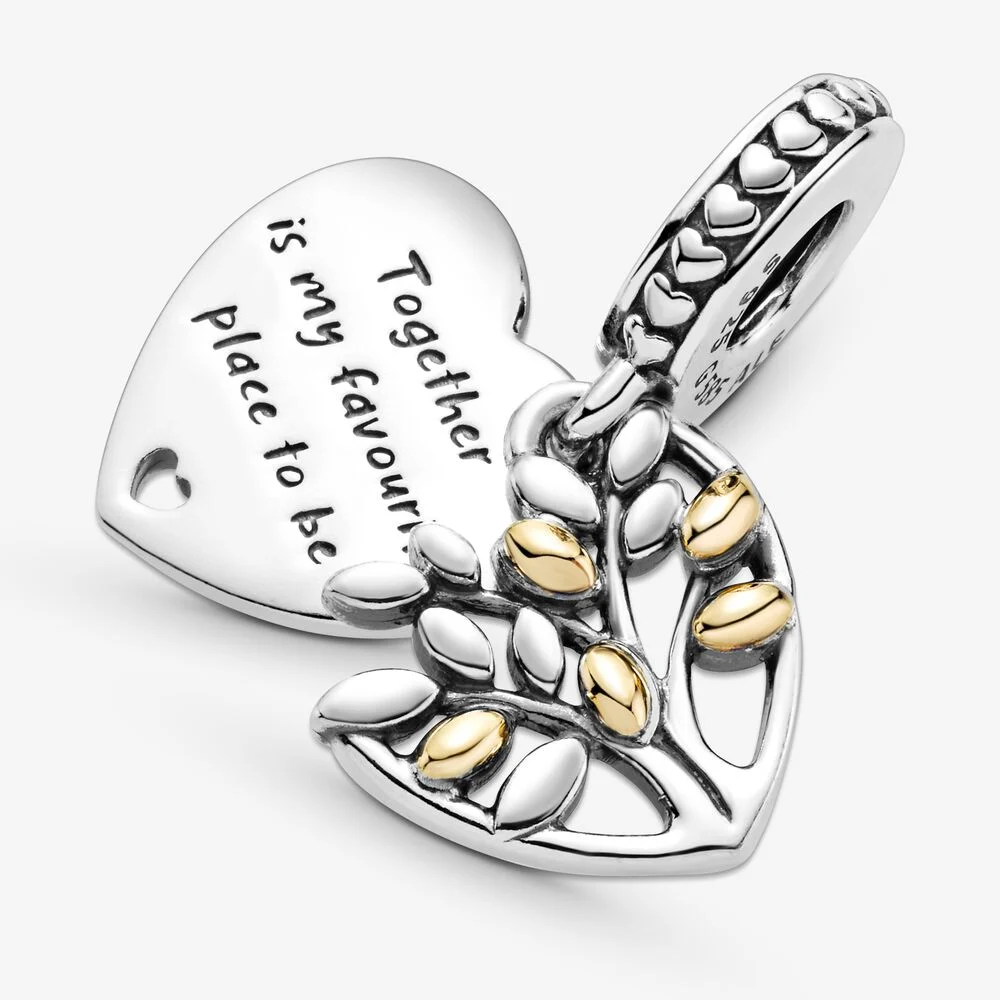Family Tree Heart Dangle Charm