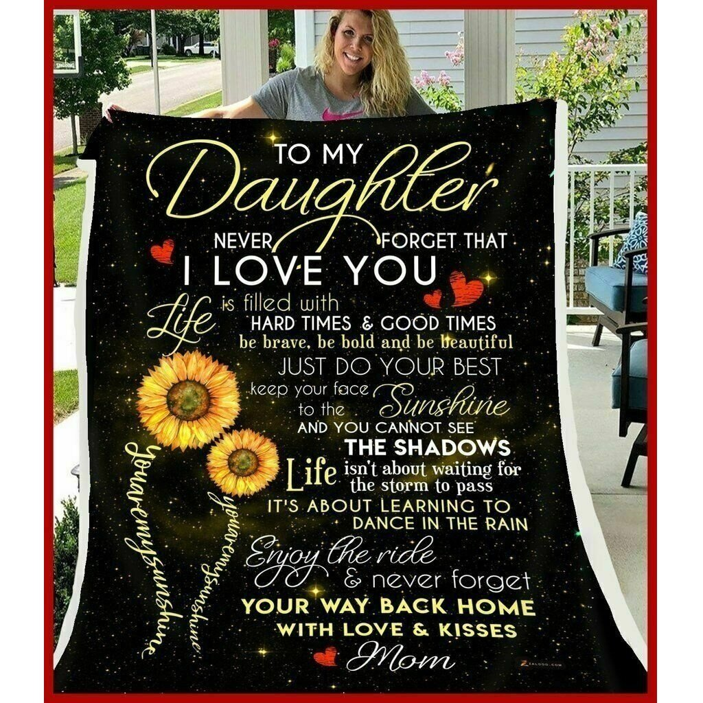 TO MY DAUGHTER - SUNFLOWER BLANKET
