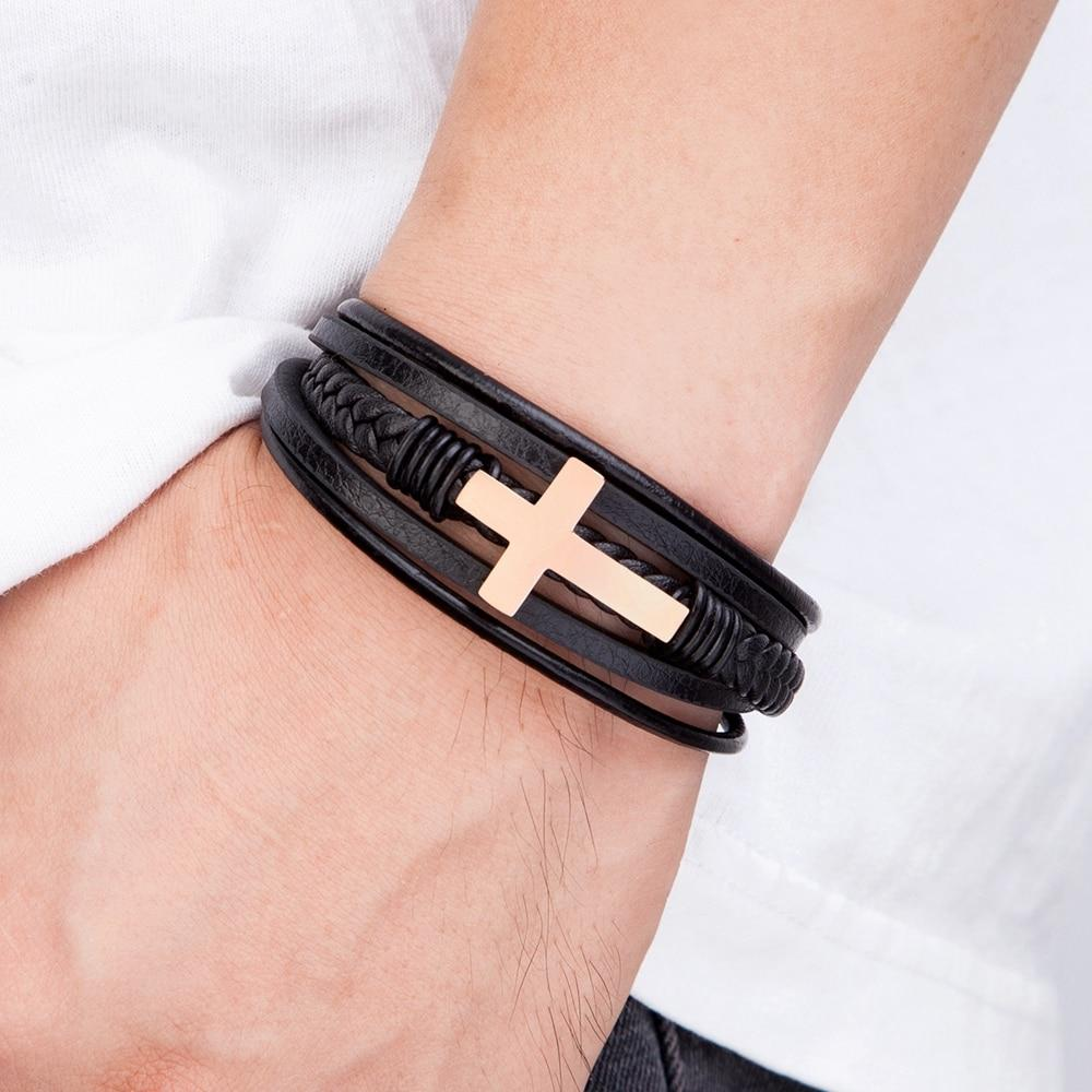 FAITH STEEL CROSS BRACELET