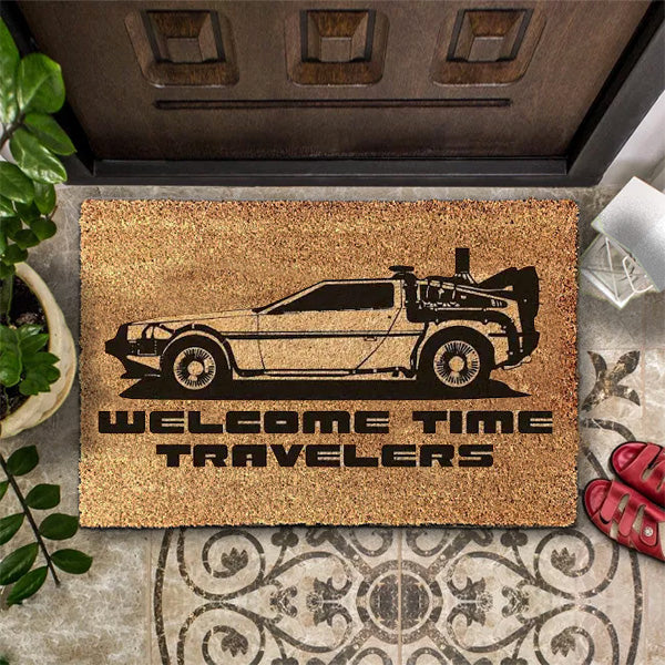 Back To The Future Custom Welcome Doormat