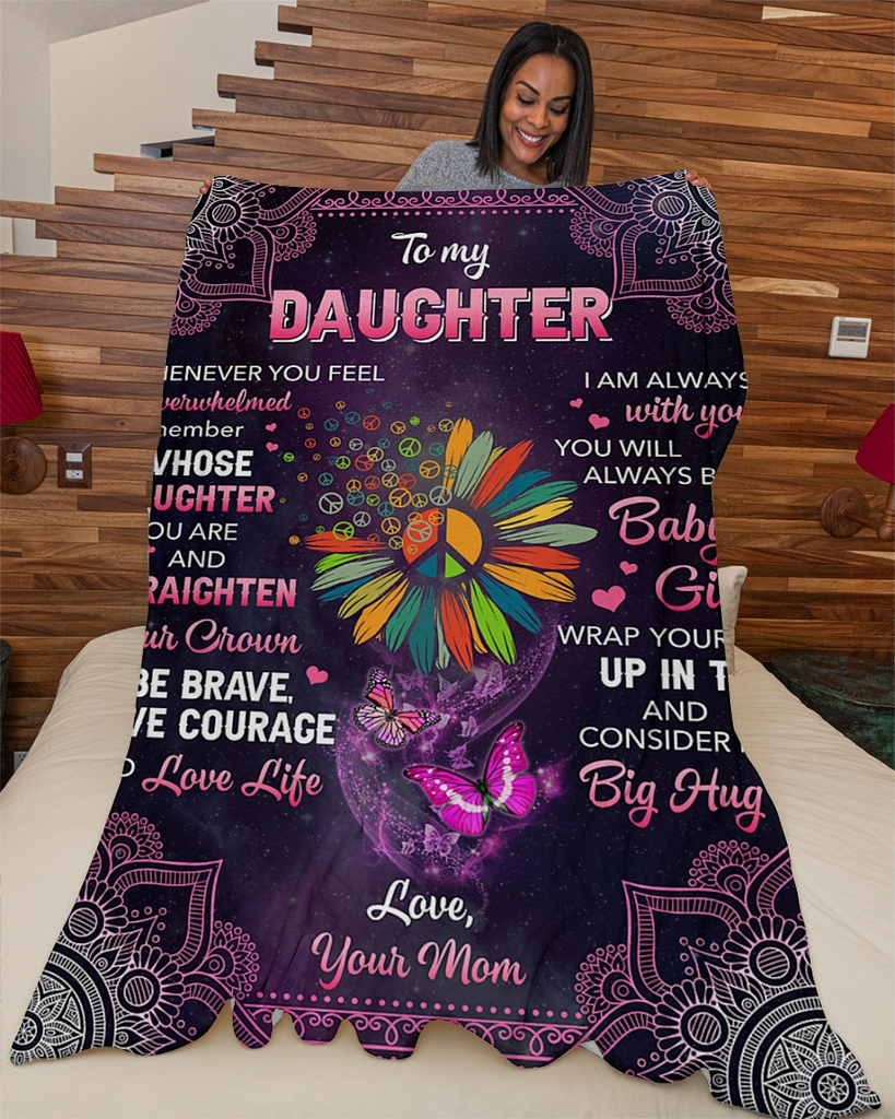 Mom To Daughter Fleece Blanket