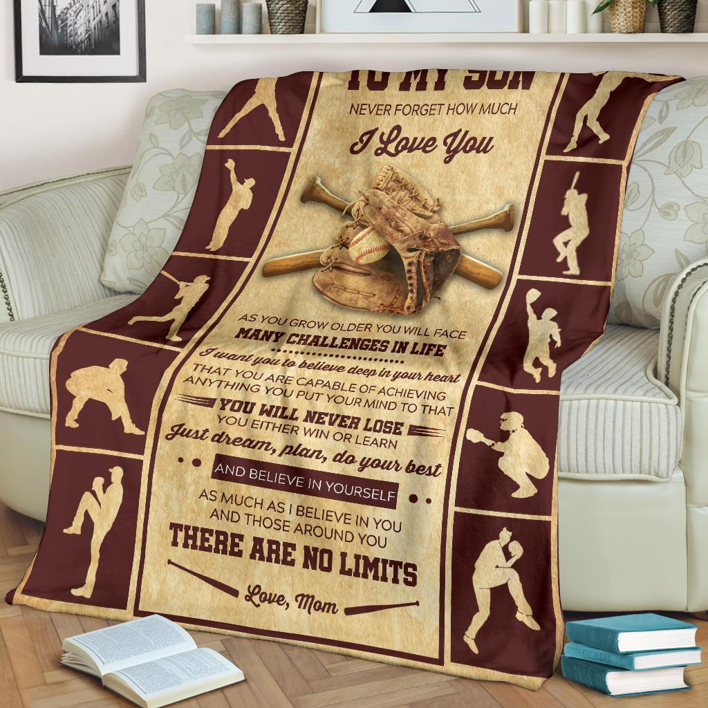 Baseball Blanket - My Dear Son - As You Grow Older