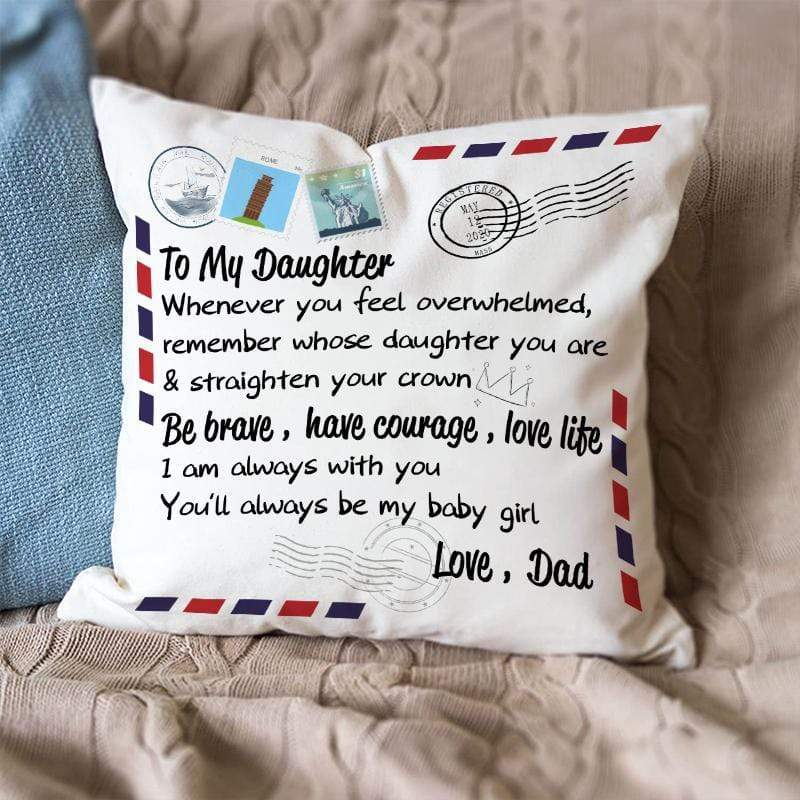 Dad To Daughter -Pillow Case