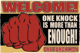 One Punch Man Doormat-One Knock