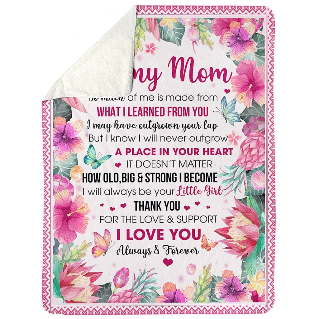 TO MY LOVING MOM - YOUR DAUGHTER BLANKET