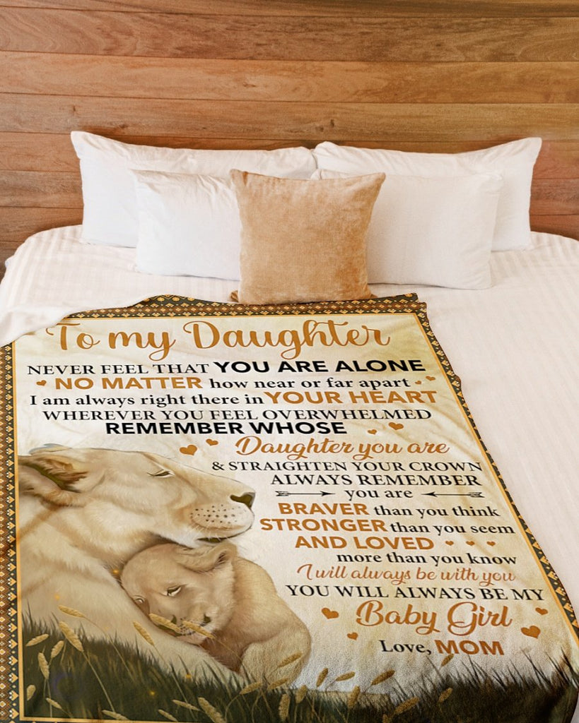 TO MY DAUGHTER-LOVE MOM LION BLANKET