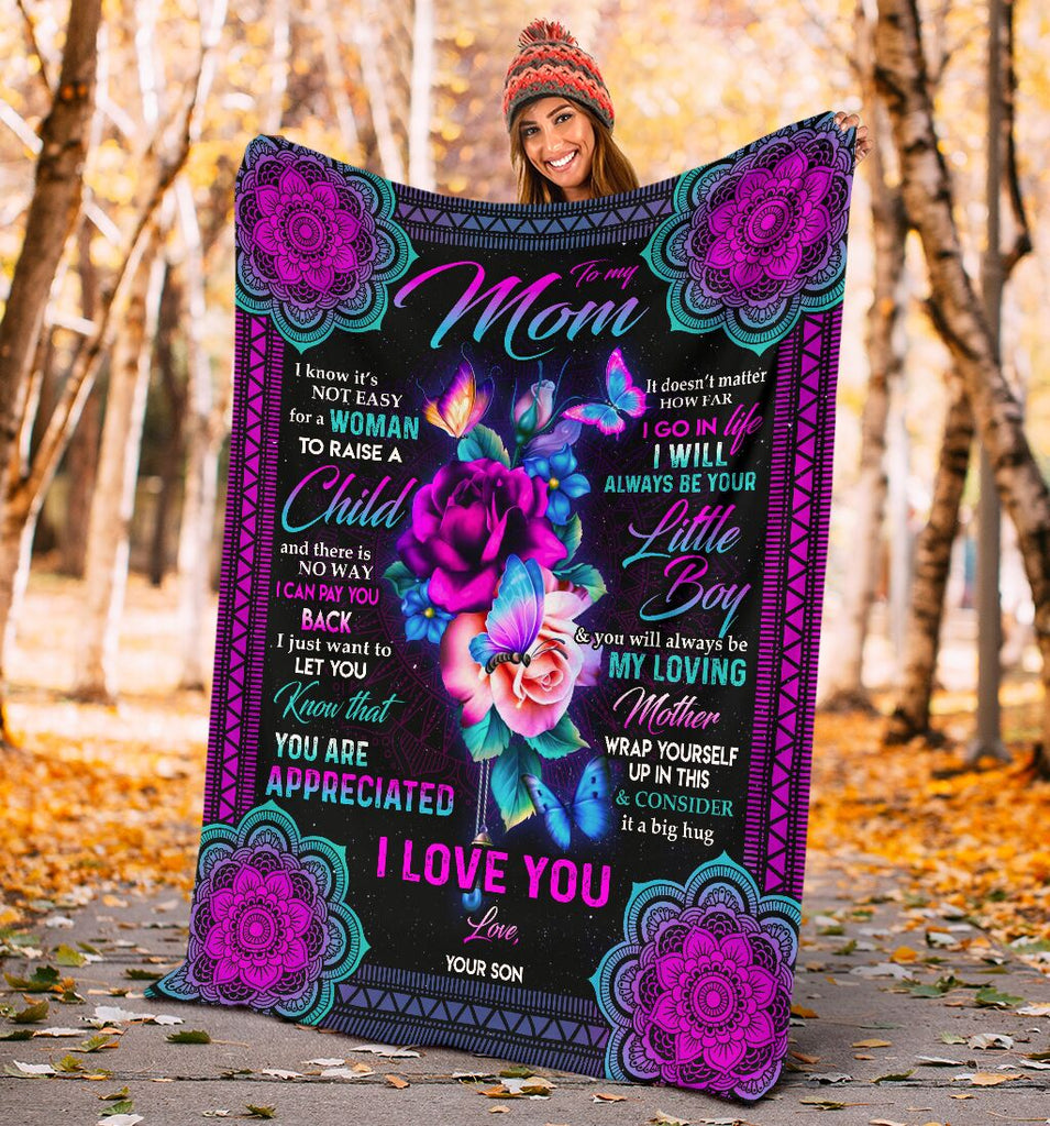 TO MY MOM I LOVE YOU BLANKET