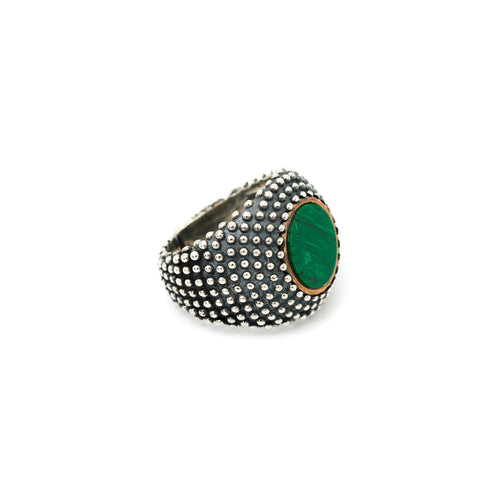 Anello Dotted Malachite