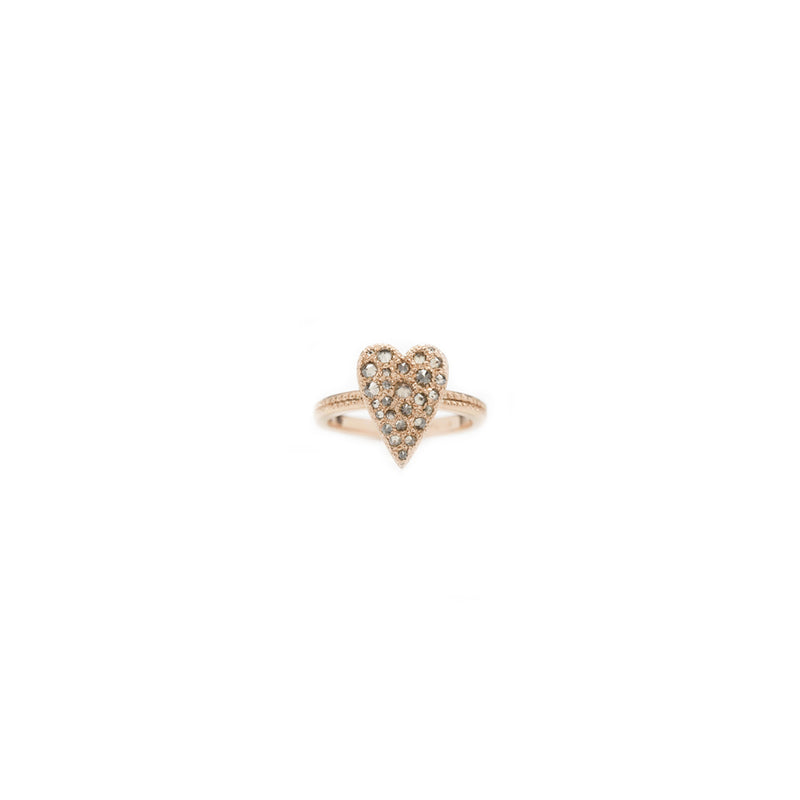 Heart Full Pavè Ring Oro