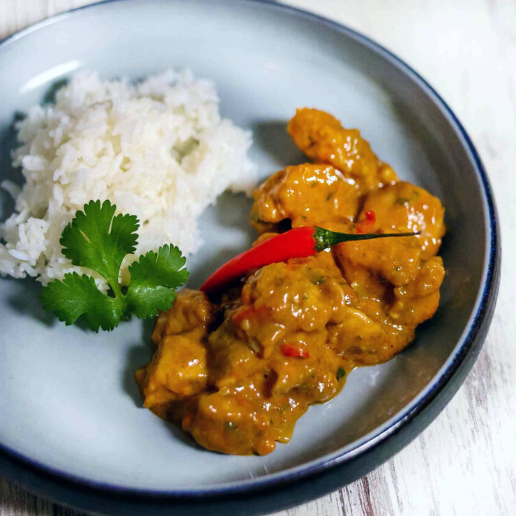 Geary Market - Red Thai Chicken Curry plated - prepared meal delivery and takeout Toronto