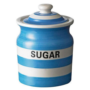 Cornish Blue Sugar Storage Jar