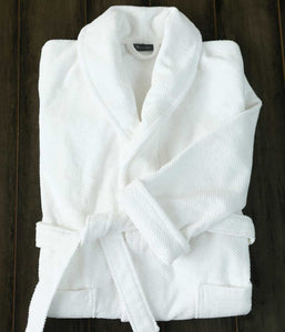 Finn Bathrobe White - Medium