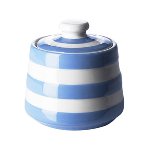Cornish Blue Covered Sugar Bowl