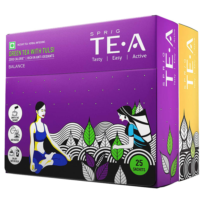 Green Tea Combo Tulsi and Ginger Pack of 25