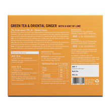 Load image into Gallery viewer, TE.A Green Tea & Oriental Ginger with a hint of lime - Pack of 25, 17.5 g