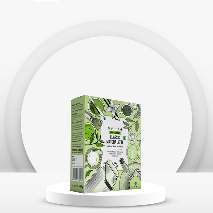Classic Matcha Latte - Powdered Green Tea Premix, 200gm