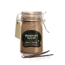 Load image into Gallery viewer, Demerara Sugar Infused with Real Madagascar Vanilla, 175 g