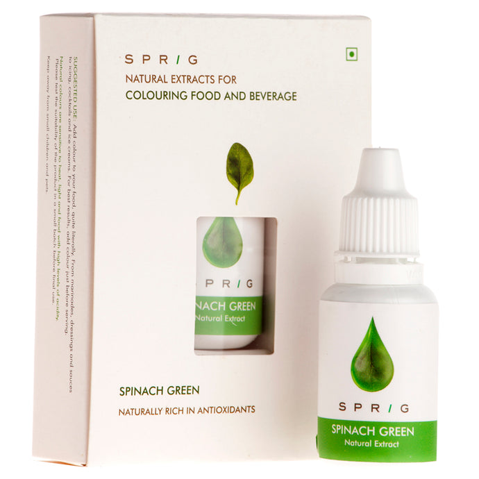 Natural Extracts for Colouring Food and Beverage - Spinach Green, 15 ml