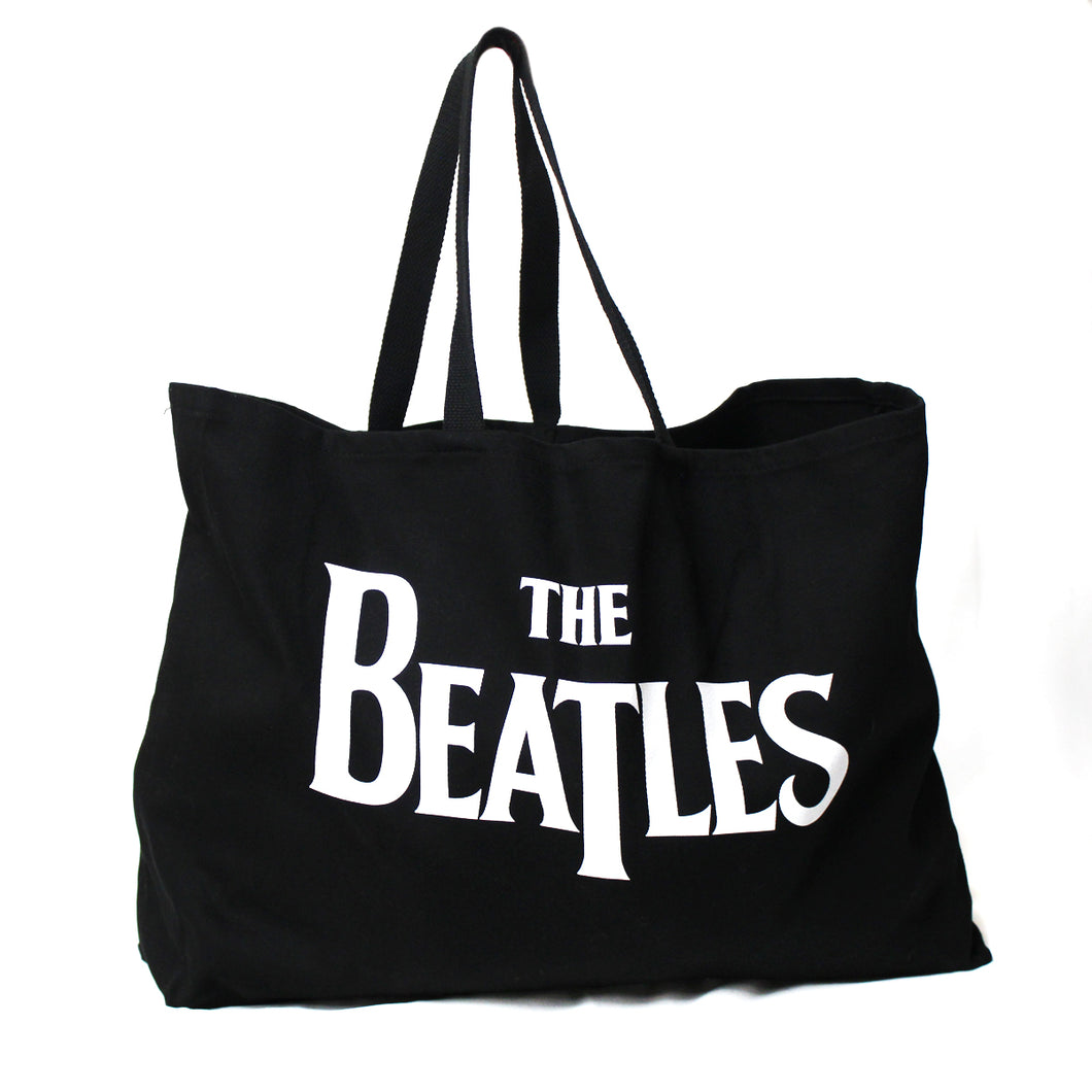THE BEATLES LOGO CANVAS TOTE BAG