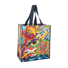 Load image into Gallery viewer, 60S LIFE LOVE AND MUSIC RECYCLED TOTE