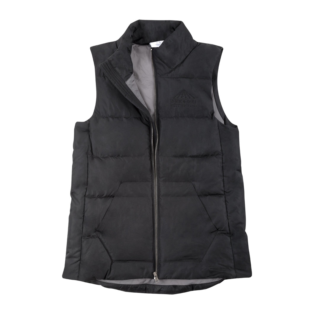 WOMEN'S ROCK HALL BLACK PUFFER VEST
