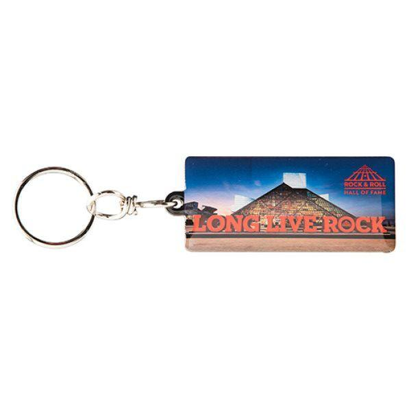 LONG LIVE ROCK & BUILDING KEYCHAIN