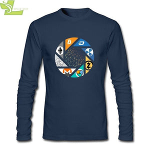 Cryptocurrency Collage Long Sleeve