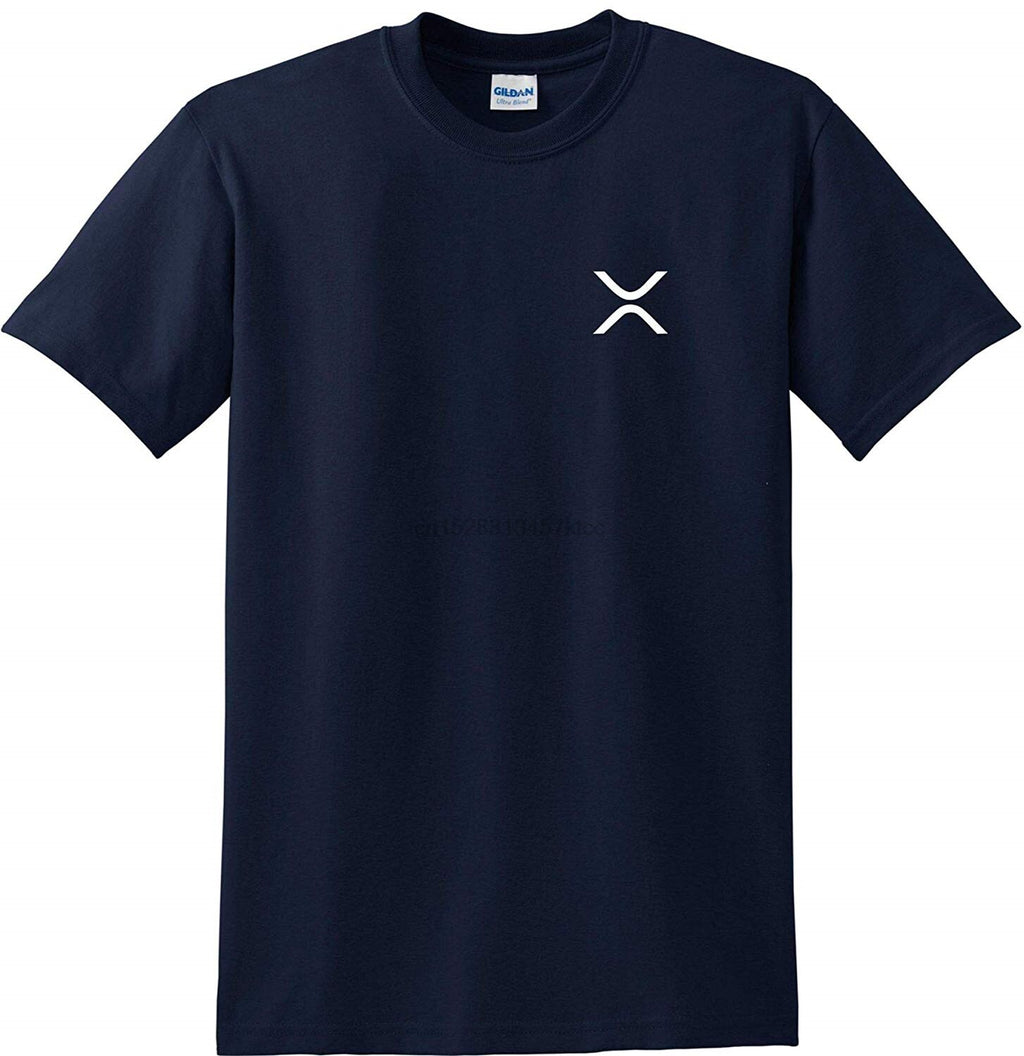 XRP Left Chest Logo Cryptocurrency T-Shirt