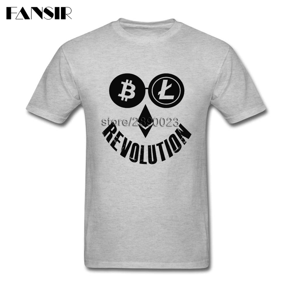 Men Bitcoin Litecoin Ethereum Crypto Revolution T-shirt
