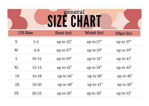 General Size Chart