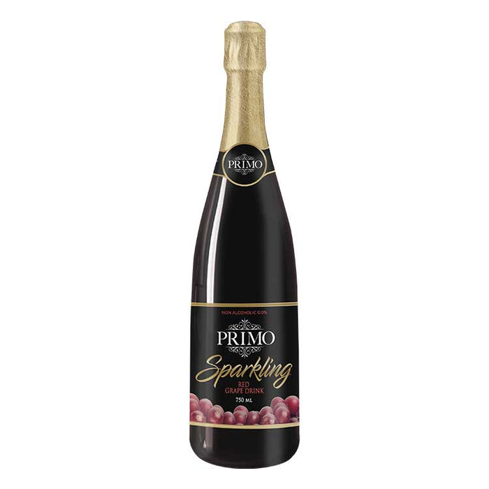 Primo Red Grape Sparkling Juice 750ml - megamart.ph