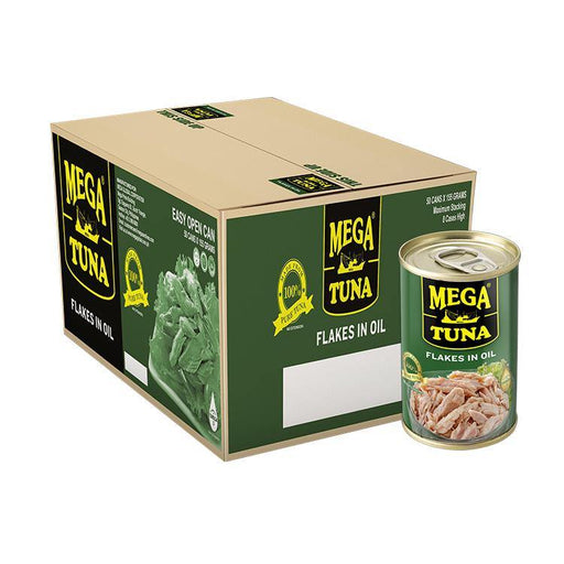 Mega Tuna Flakes in Oil EOC 155g X 50 - megamart.ph