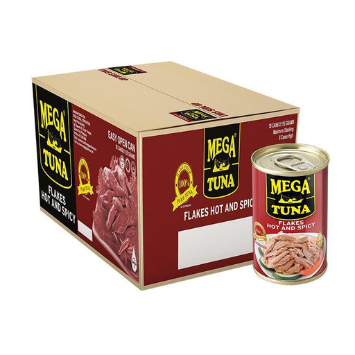 Mega Tuna Flakes Hot & Spicy EOC 155g X 50 - megamart.ph