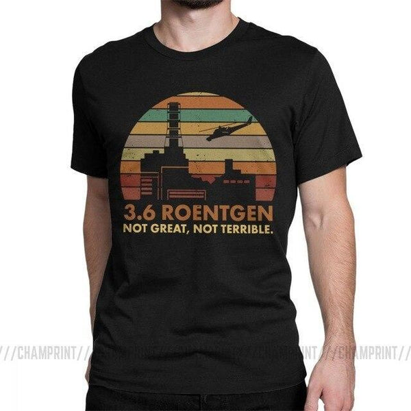 Chernobyl tour chernobyl tours to chernobyl tour to chernobyl visit Prypiat visit Chernobyl Nuclear power plant tour Prypiat tour Chernobyl tour tomorrow t-shirt not great not terrible HBO show series roentgen dyatlov souvenirs store free shipping