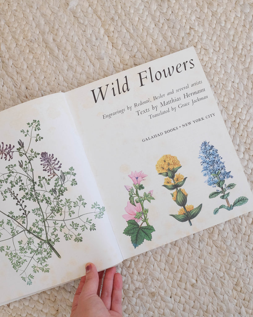 1970s Wild Flowers Botanical Book