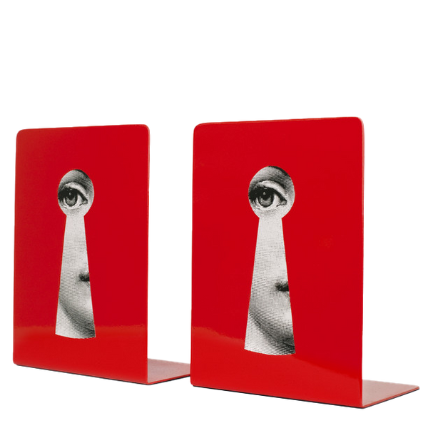 Bookends Serratura black/white/red