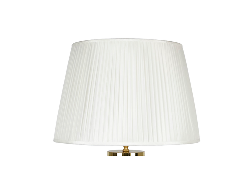 Conical pleated lampshade white