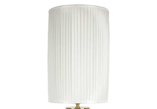 Cylindrical pleated lampshade white