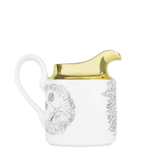 Milk jug Solitario black/white/gold