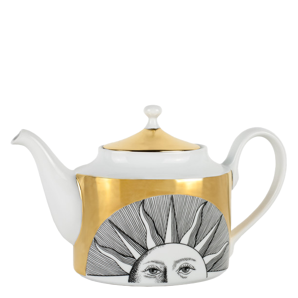 Teapot Soli black/white/gold