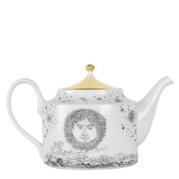 Teapot Tema Solitario black/white/gold