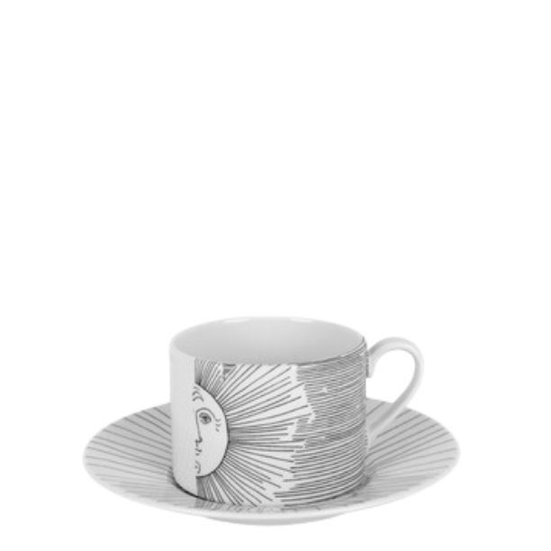 Tea cup Solitario white/black