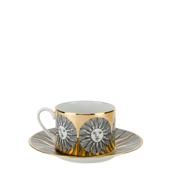 Tea cup Sole black/white/gold