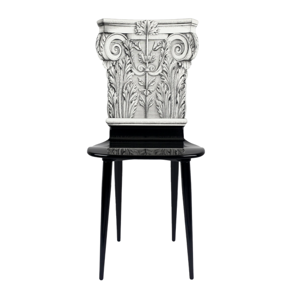 Chair Capitello Corinzio black/white