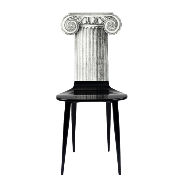 Chair Capitello Jonico black/white