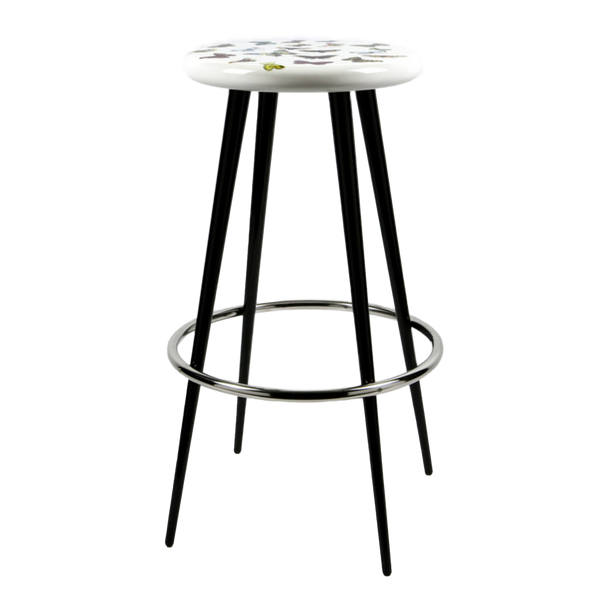 Bar stool Farfalle colour/white