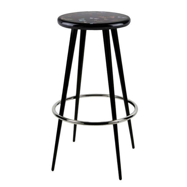 Bar stool Farfalle colour/black